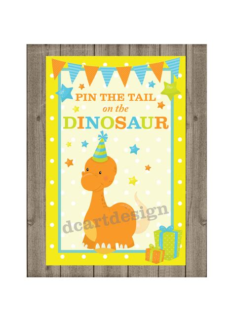 printable version of pin the tail on the donkey pin the tail on the dinosaur game and sign printable pin the