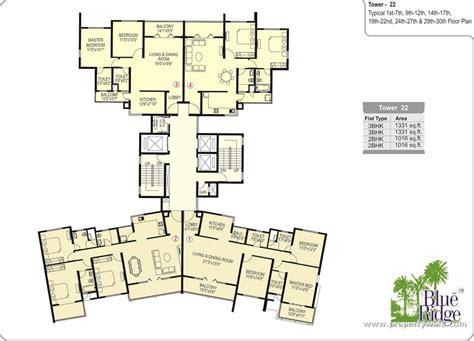 Blue Ridge Floor Plan | paranjape blue ridge hinjewadi pune apartment flat