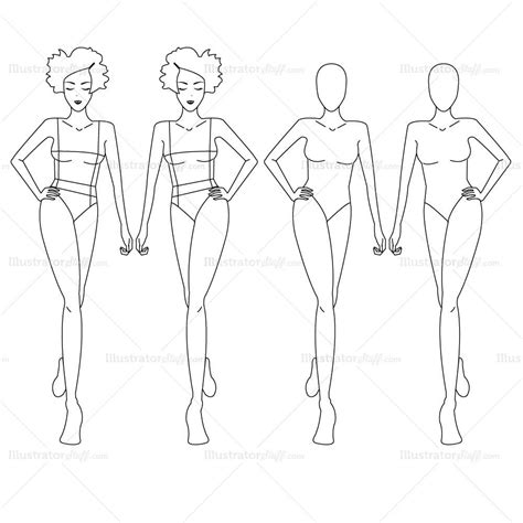 illustrator clothing templates fashion croquis template illustrator stuff