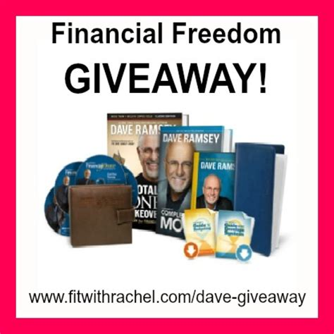 Dave Ramsey Giveaway - dave ramsey fit with rachel
