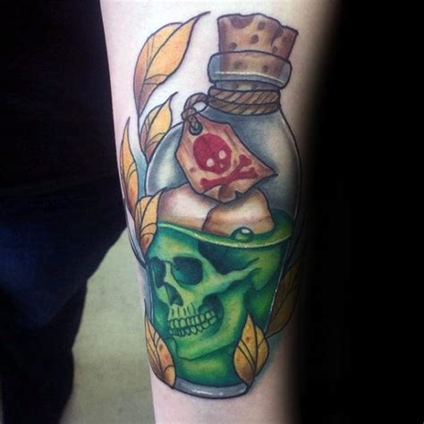 new school bottle tattoo 40 poison bottle tattoo designs for men killer ink ideas