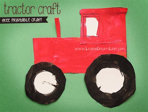 Printable Tractor Craft Version Ii Tractor Template For Preschoolers