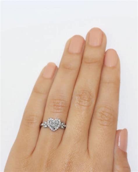 Love Blossom Heart Shaped Diamond Ring   Heart Shaped