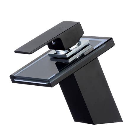 waschtischarmatur schwarz glas wasserfall waschtischarmatur schwarz bad real
