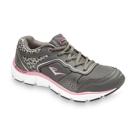 memory foam athletic shoes everlast 174 s lesley memory foam gray pink athletic