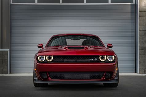 dodge challenger front view challenger srt hellcat gets a widebody for 2018