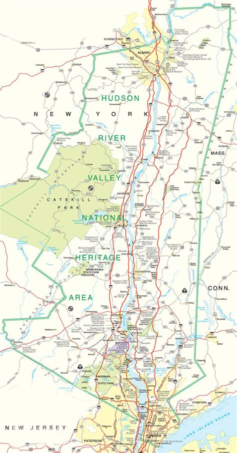 map of usa hudson river maps map hudson river