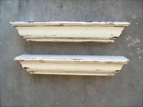 beautiful off white shabby chic shelves via etsy salon
