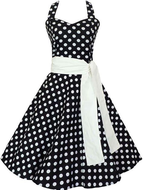 50 s swing 50 s swing dress circle black white polka dot