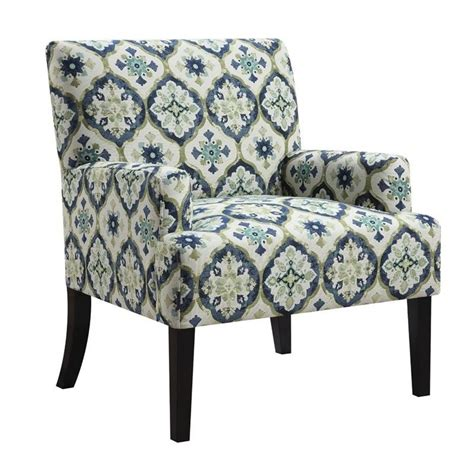 geometric pattern in blue coaster geometric pattern accent chair in blue and green