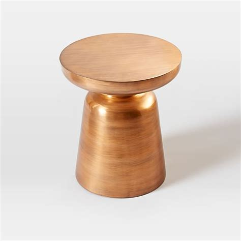 martini side martini side table metallics west elm