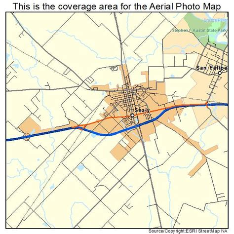 sealy texas map aerial photography map of sealy tx texas
