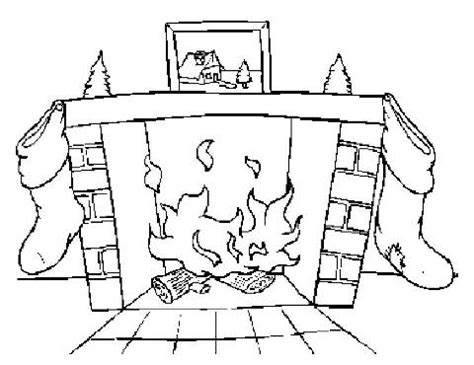 coloring page christmas fireplace fire place coloring pages 171 free coloring pages