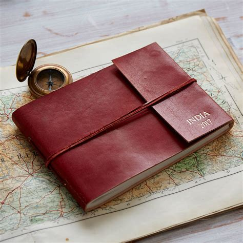 Handmade Leather Photo Albums - personalised handmade leather photo albums by paper high