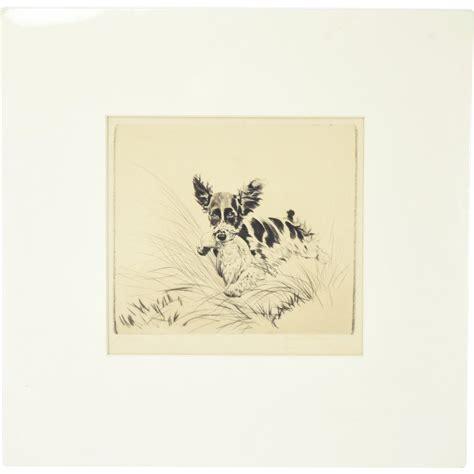 original diana 1930 s diana thorne original etching king charles spaniel