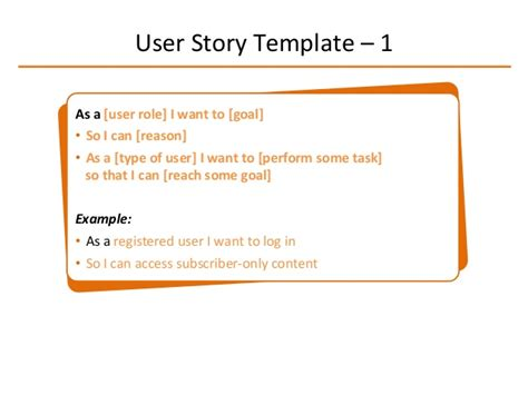 user story template word composing user stories beginners guide