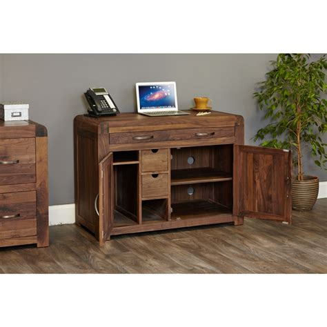 Hideaway Desks Home Office Inca Solid Walnut Furniture Home Office Computer Pc Hideaway Desk Ebay