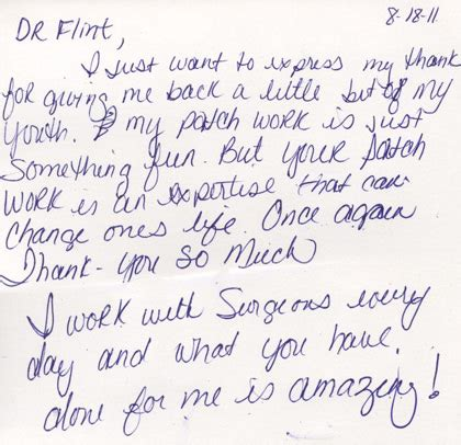 thank you letter to doctor after delivery testimonials scottsdale plastic surgeon dr patti flint