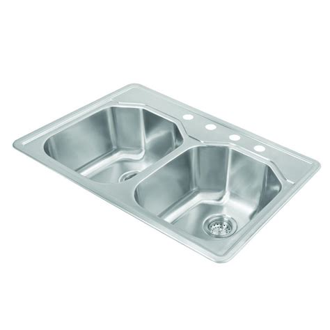 Pegasus Kitchen Sinks Pegasus Drop In 33x22x9 75 4 Bowl Kitchen Sink Sm2017 The Home Depot