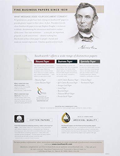 southworth resume paper southworth resume paper cotton fiber 24 lb 8 1 2 x 11