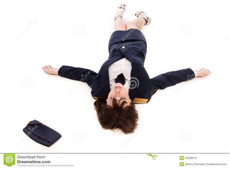 Lying To A Officer by Officer Lying On A Floor Royalty Free Stock Image