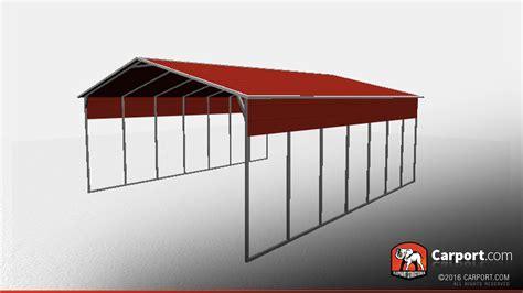 open carport 26 x 36 open steel carport with a frame roof steel