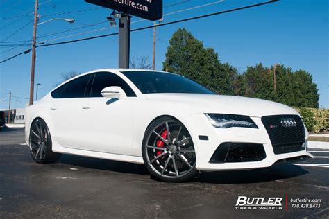 audi rs7 with 22in vossen vfs1 wheels exclusively from