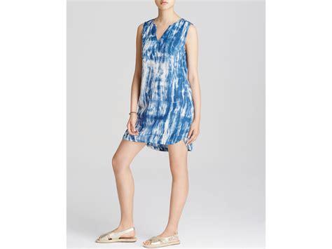lyst lunch lounge tie dye shift dress in blue