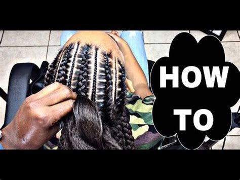 how to cornrow hair for beginners 194 stitch braids 4 beginners youtube