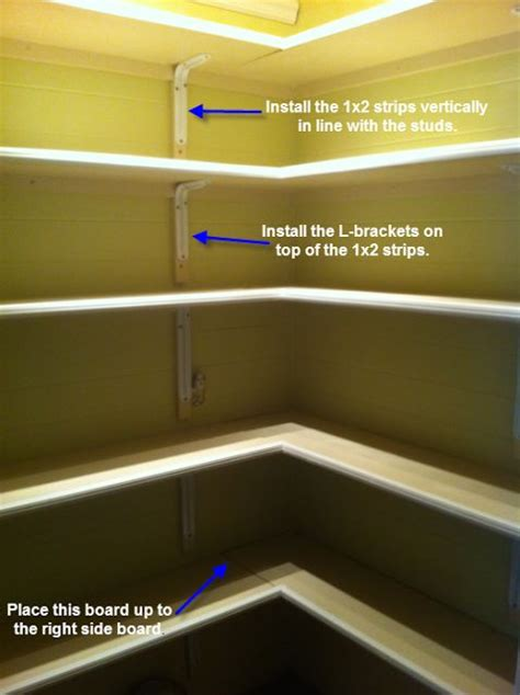 L Shaped Pantry by Once Upon A Cedar House How To Install L Shaped Pantry