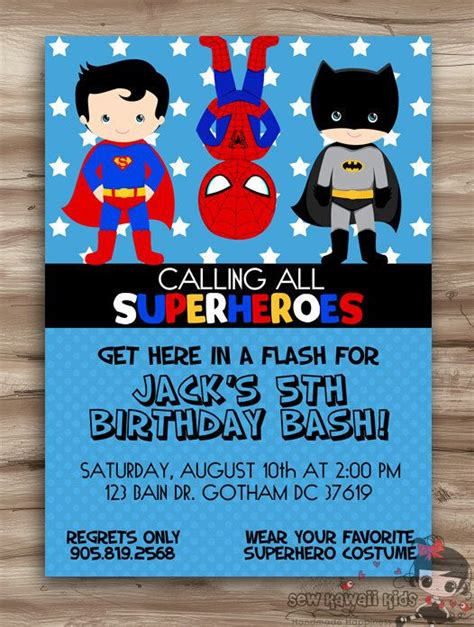 superhero birthday invitation superhero invitation