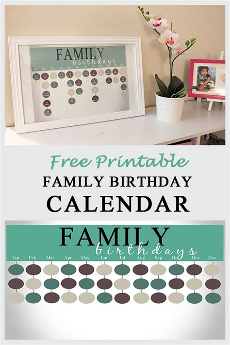 Family Birthday Calendar Best 25 Family Birthday Calendar Ideas On