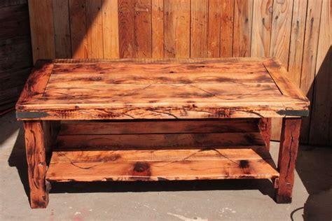 redwood coffee table rustic furniture log cabin home