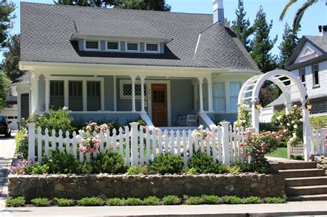 One Story Craftsman Bungalow House Plans living the american dream with a white picket fence