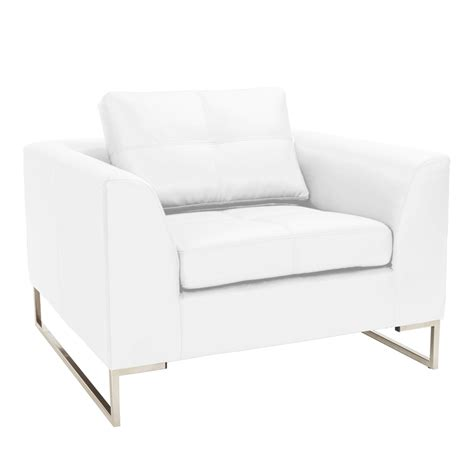 white armchair vienna leather armchair white dwell