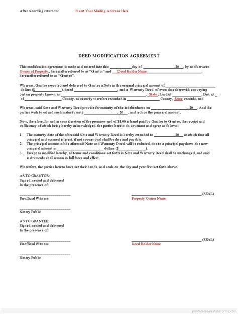 Contract Modification Letter 854 best estate basic template images on real