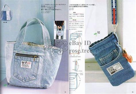 jeans tote bag pattern recycle jean bags japanese denim bag tote craft pattern