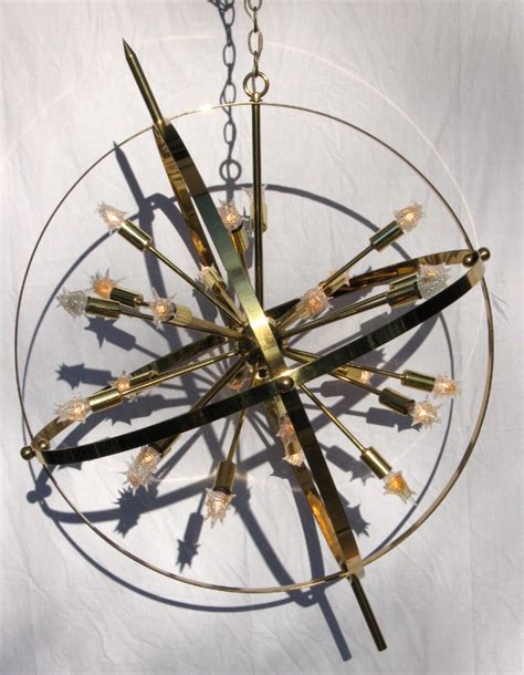 armillary sphere chandelier large brass sputnik armillary chandelier