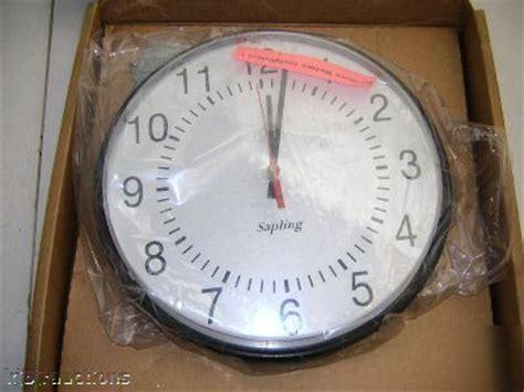 sapling school industrial commercial 12quot wall clock