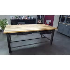 meuble industriel table de salle 224 manger avec tiroir m