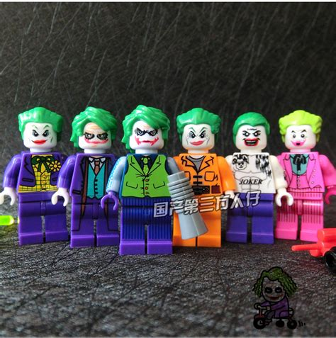 Lego Joker Prison The Batman Lebq Bootleg 6pcs joker prison jumpsuit dc justice league squad batman robin minifig model