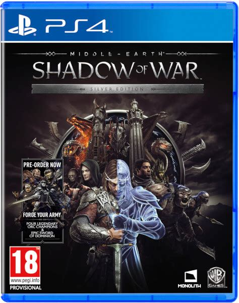 middle earth shadow of war silver edition ps4 zavvi