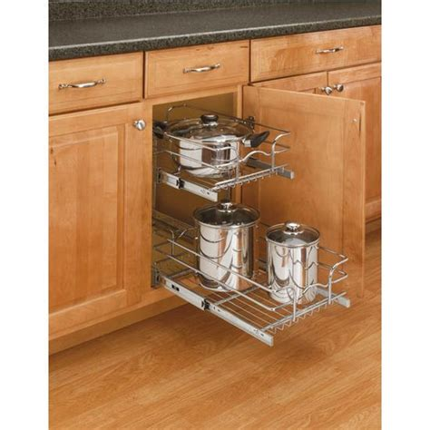 kitchen cabinet pull out baskets storage baskets chrome double pull out wire baskets w full extensi
