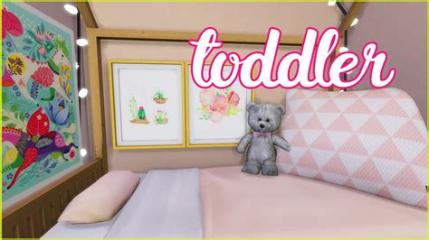 the sims 4 compact toddler bedroom youtube