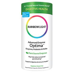 rainbow light digestive enzymes advanced enzyme optima 90 veggie caps by rainbow light