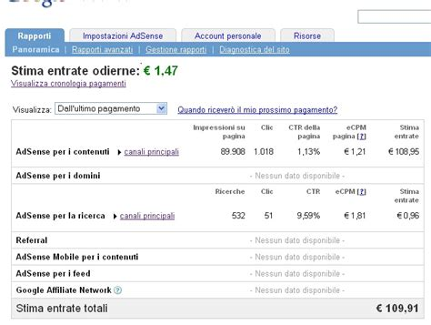 adsense quanto si guadagna quanto si guadagna con google adsense quanti visitatori