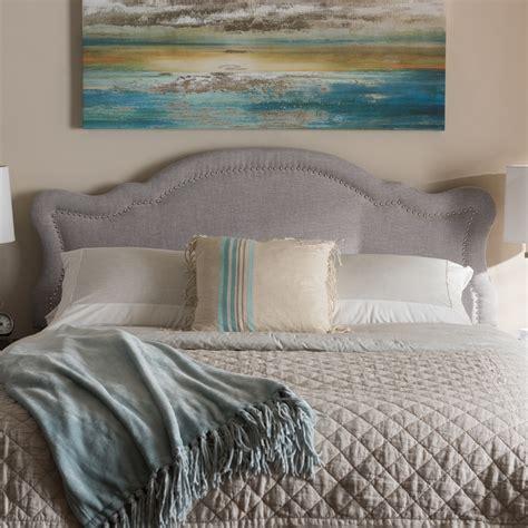 fabric king size headboard baxton studio avery modern and contemporary greyish beige