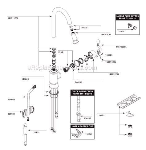 moen 7400 faucet repair diagram imageresizertool
