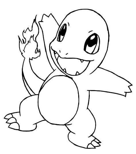 pokemon coloring pages caterpie pok 233 mon gen 1 charmander cucciolo 4 fuoco