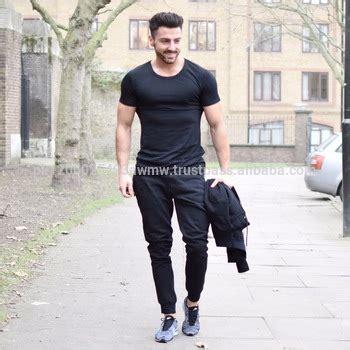 Tshirt Polos Pria Basic Slim Navy black t shirt custom shirt clothing wholesale